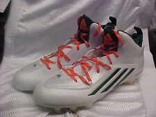 Miami Hurricanes Adidas Sm Crazyquick 2.0 Molded Football Cleats B54328 Size 14
