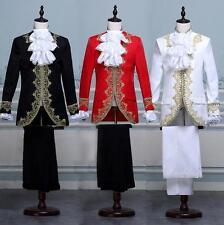 Royal Men Blazer King Prince Cosplay Costume Coat  Pants Suits Dress Male Tuxedo