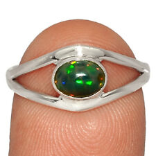 Chalama Black Opal 925 Sterling Silver Ring Jewelry s.8 AR193233