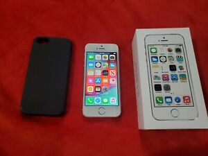 Apple iPhone 5s - 32GB - Silver (Unlocked) A1533 (GSM) w/ Case & Box WORKS