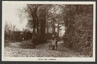 Postcard Aldershot Hampshire man with three wheel cart Ayling Lane 1917 RP