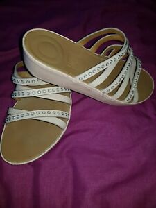 Fitflop Linny Slide Blush Pink Sandals, Size 6 Excellent condition
