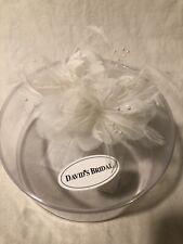 David's Bridal Head Piece Feathers, Silk Petals & Pearls Hair Clip