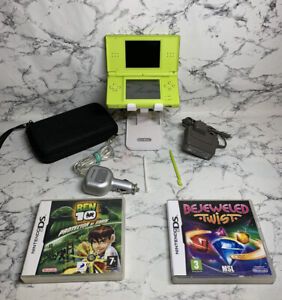 RARE Nintendo DS Lite LIME Green Handheld System IN MINT CONDITION Game and case