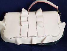 NWT $3,945 FENDI Auth Baguette Ruffle Leather Shoulder Bag Handbag Purse Clutch.