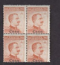 More details for italy aegean dodecanese islands caso 20c no watermark block 4 um mnh **