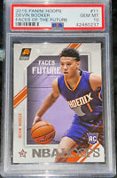 Pop 1 of 8🔥2015 Devin Booker PANINI HOOPS FACES OF THE FUTURE RC #11 PSA 10 BGS