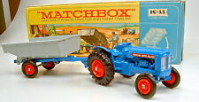 Kingsize K-11A Fordson Tractor & Trailer seltene orange Felgen top in Box