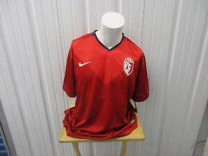 VINTAGE NIKE LILLE LOSC LES DOGUES 2XL 2014 RED HOME DRI-FIT JERSEY KIT NWT
