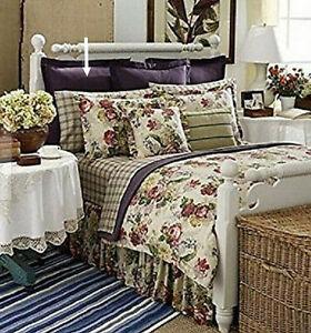Ralph Lauren Surrey Garden Purple Twill European Euro Pillow Sham MSRP $185