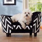 DOG CAT PET BED SOFA CUSHION PUPPY Ultra Plush LOUNGE Wave Black- PET FURNITURE