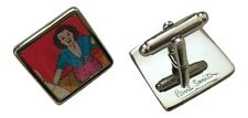 "Paul Smith VINTAGE NAKED LADY  ""Crop Top"" LENTICULAR TBAR CUFFLINKS"