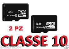 2 X Micro SD 16GB OEM + adattatore CLASSE 10 per SAMSUNG microsd S3 S4 S5 S6 S7