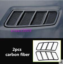 2p Carbon fiber Exterior Hood Vent Grille For Mercedes Benz GLE W166 C292 15-17