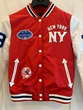 New York YANKEES Letterman MLB 2008 ALL STAR GAME JACKET NY Youth Medium Red