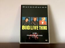 Duran Duran BIG LIVE THING Genuine DVD Tokyo Dome 2/22/1989 w/Warren Cuccurullo