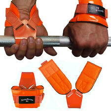 1 Paar Zughilfe Zughilfen Klimmzughaken Latzughilfen Griffhilfen orange NEU
