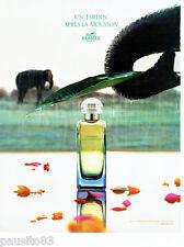 """PUBLICITE ADVERTISING 016  2008  HERMES  parfum """"un jardin après la Mousson"""""""