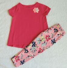 Carter's Baby Girls 2-Pc Spring Set 24 Months Pink T-Shirt PInk Floral Leggings