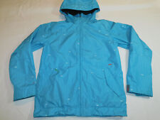 FOUR SQUARE SKI SNOW JACKET SHELL ZIP VENTS HOOD WATERPROOF BLUE MEN'S S