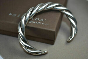 Silpada Sterling Silver Bracelet B0014 Twisted Cable Heavy Cuff  RARE
