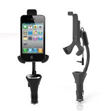 Handfree Car Phone Holder USB Charger Mount FM Transmitter Kit for Smartphones