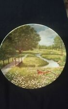 Knowles collector plate Flowering Meadow By Bart Jener's