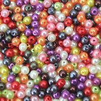NEW 500PCS/Set Plastic Pearl Round Spacer Loose Beads 4mm For Diy Jewelry