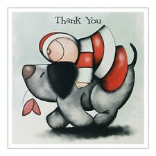 Santoro Hoodies Greeting Card - Thank You - Hugging Dog - Sg-Hd-006