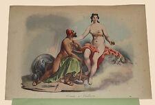 Venere e Vulcano Mitologia romana Venus Vulcanus Usi e Costumi Sanvito 1857