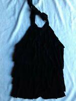 White House Black Market Silk Tie Halter Size L