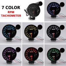 "5"" inch Pointer Tachometer Gauge 0-11000 RPM Meter with Shift Light 7 Color LED"