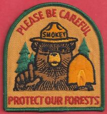 USFS US Forest Service 1970 Please Be Careful Protect Forests Smokey Bear Patch