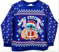 Disney Stitch Christmas Sweatshirt Merry Stitchmas LIGHT UP Women's LS Shirt XXL