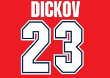 Dickov #23 Arsenal 1995-1996 Home Football Nameset for shirt