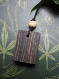 Ancient Irish Bog Oak Wood Pendant - for Strength & Courage - Pagan, Witchcraft