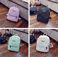 Women Shoulder Leather Backpacks Mini Travel Rucksack Handbags School Bag New
