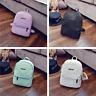 Women Leather Backpacks Mini Travel Leisure Rucksack Handbags School Bag White