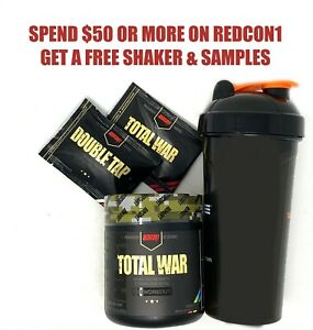 Redcon1 TOTAL WAR Pre Workout Powder Insane Energy New Formula (New Flavors!)
