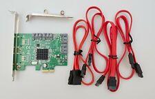Syba SI-PEX40064 4-Port Internal SATA3 III Marvell 88SE9215 Controller Card