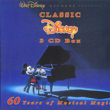 Classic Disney, Vol. 1-3 by Disney (3 x CD Box, 2000, 75 Songs)-FREE SHIPPING-