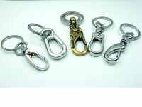 High Quality LOBSTER Clasp HOOK w/ Steel KEY RING Carrier HOLDER ~Various Style~