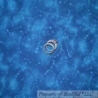 BonEful Fabric FQ Cotton Quilt Aqua Blue Teal Tone Sky Texture Star Baby Blender
