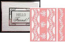 Anna Griffin Cuttlebug Embossing Folders Organdy Stripe folder set flowers,lace