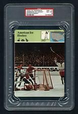 PSA 8 AMERICAN ICE HOCKEY on 1979 Story of America Card #68-10 Sportscaster