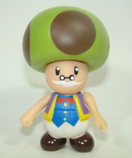 Super Mario Brothers Mushroom Toadsworth Action Figure Plastic Toy 9CM