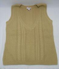 Womens Talbots Petites V-Neck Sleeveless Sweater-Size Lg-Cotton/Nylon/Cashmere