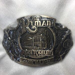 The Ryman Auditorium / Grand Ole Opry belt buckle (solid brass)