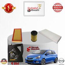 Filtres Kit D'Entretien + Huile Opel Corsa D 1.4 16v 66kw 90cv à partir de 2006