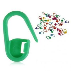 Plastic Locking Needle Stitch Holders Markers For Crochet Knitting Craft Clip